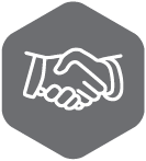 Partnership icon. Handshake